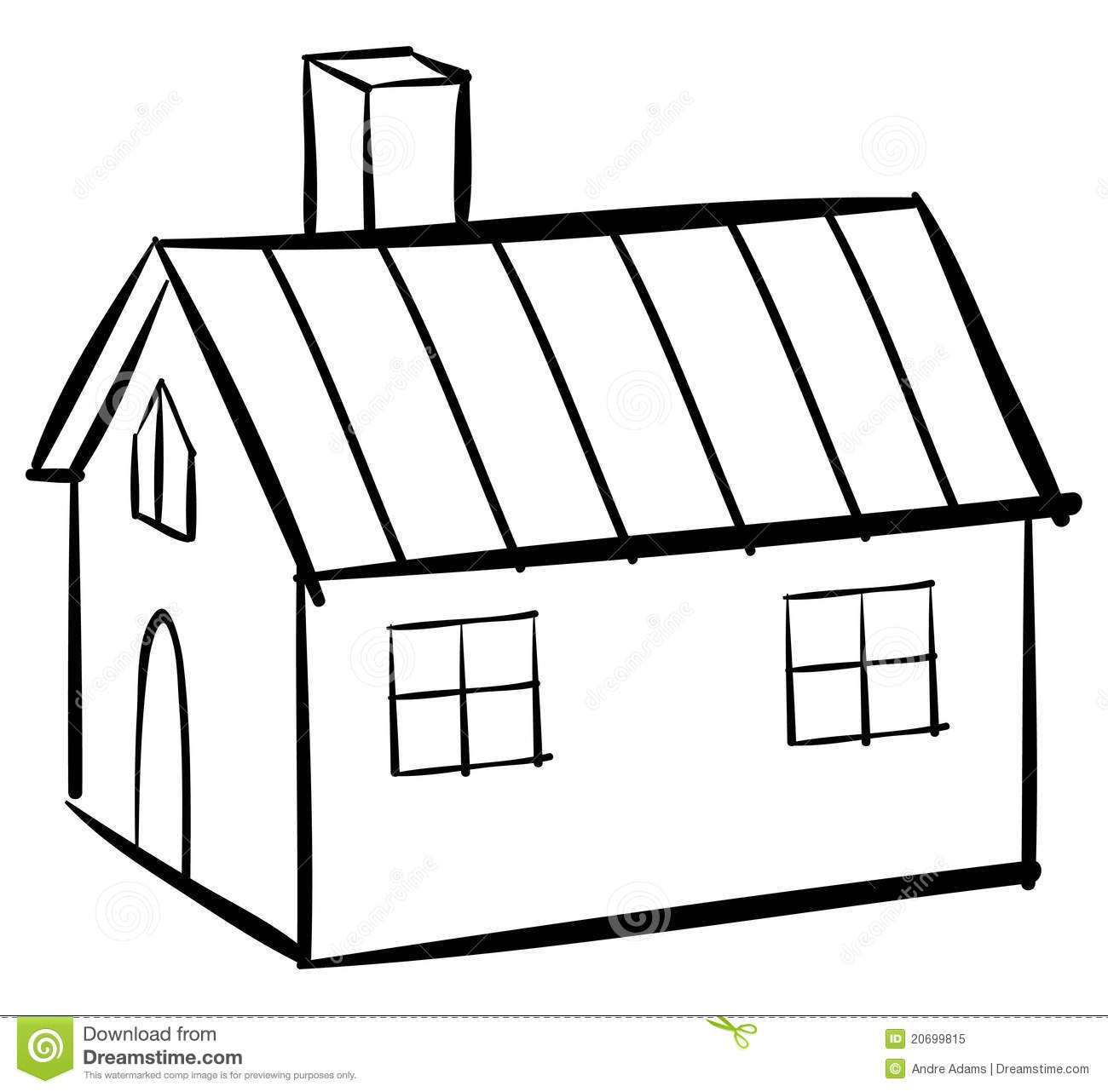 House outline stock vector. Illustration of home, book