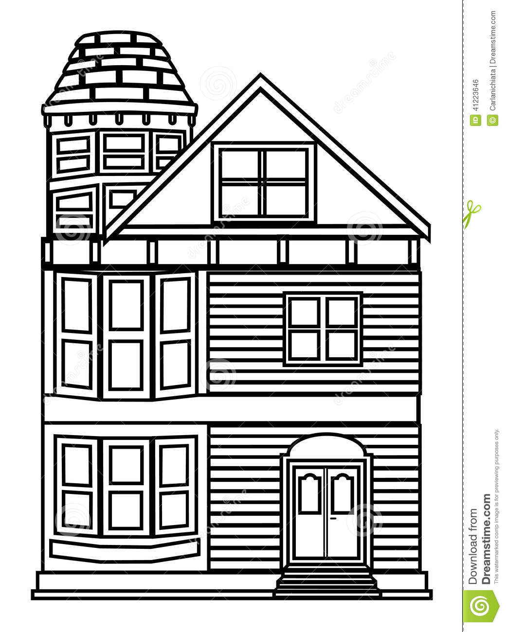 House Outline Stock Vector Illustration Of Simple Shape