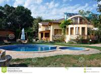 House with swimming pool stock image. Image of building ...