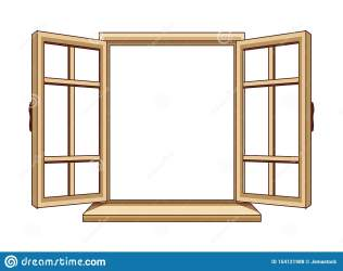 window cartoon open isolated illustration graphic vector preview