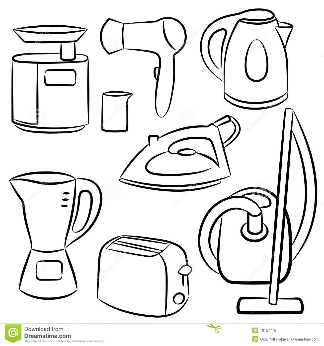 Household Appliances Stock Vector Image Of Household