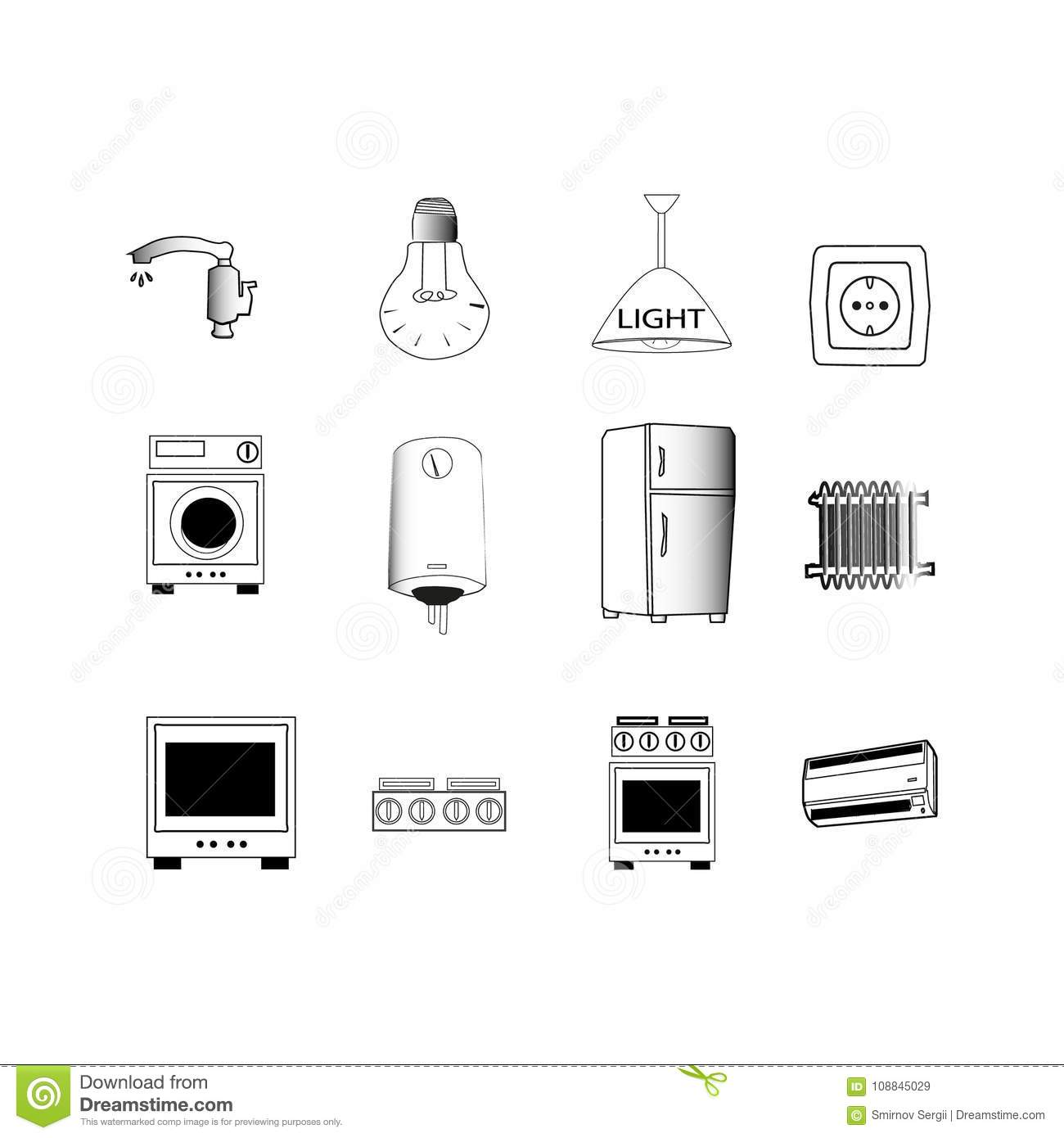 Household Electrical Appliances Stickers For Electrical