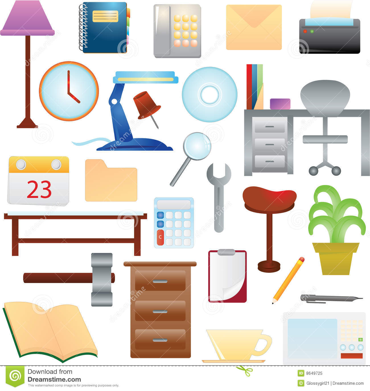 Household Items Stock Vector Illustration Of Home Lamp