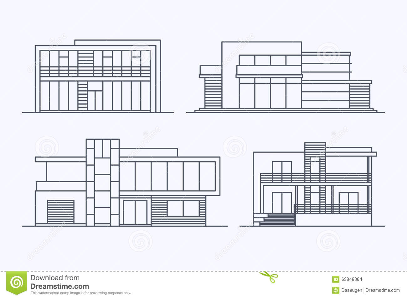 Houses Linear 7 Stock Photo Image Of Facade Apartment