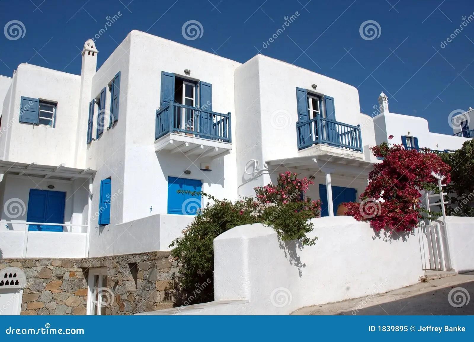 Houses on Mykonos stock image Image of greece greek