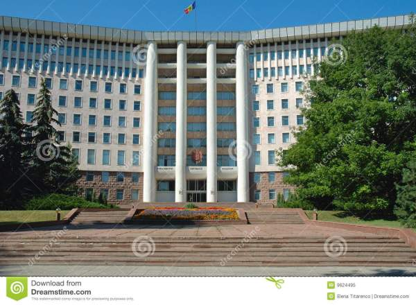 Houses Of Parliament In Chisinau Moldova Royalty Free
