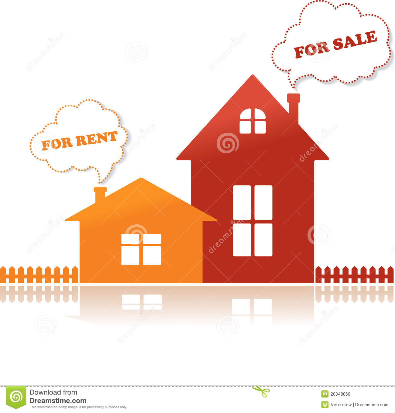 Houses For Sale And For Rent, Vector Illustration Royalty