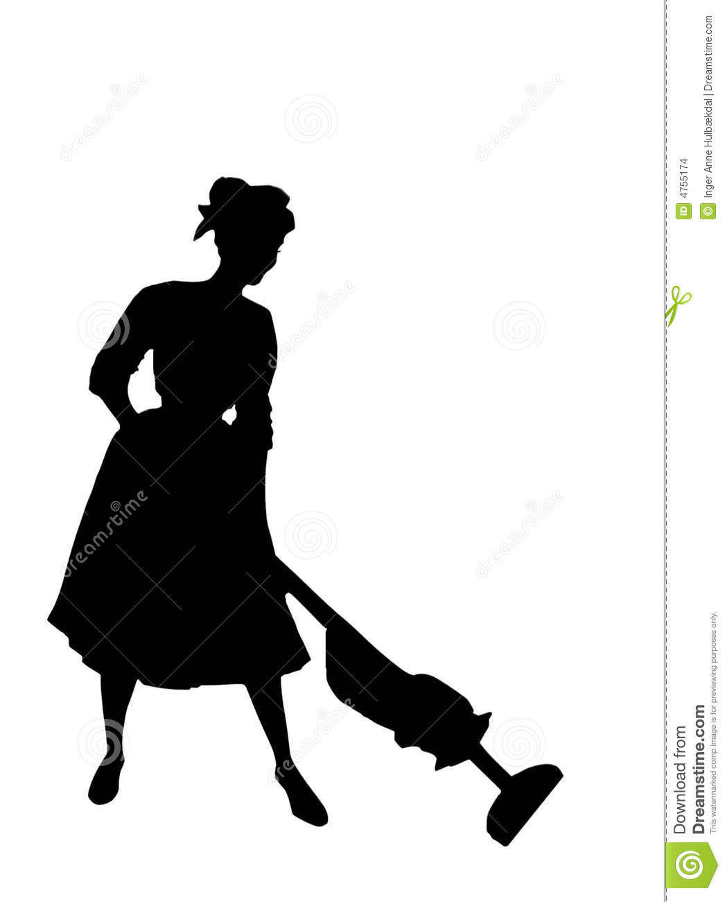 Housewife Of The 1950s Stock Illustration Image Of