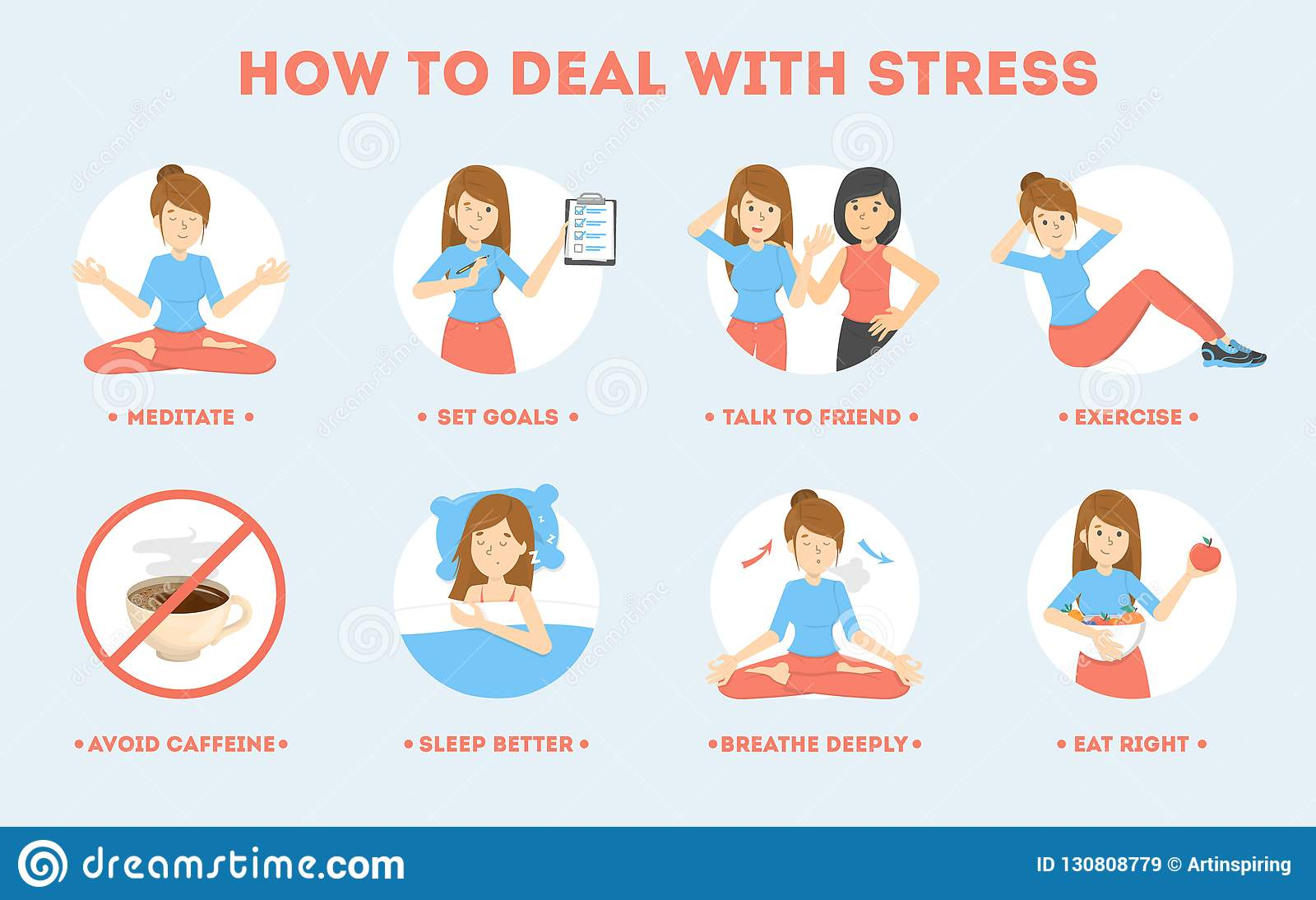 How To Deal With Stress Guide Depression Reduce Stock