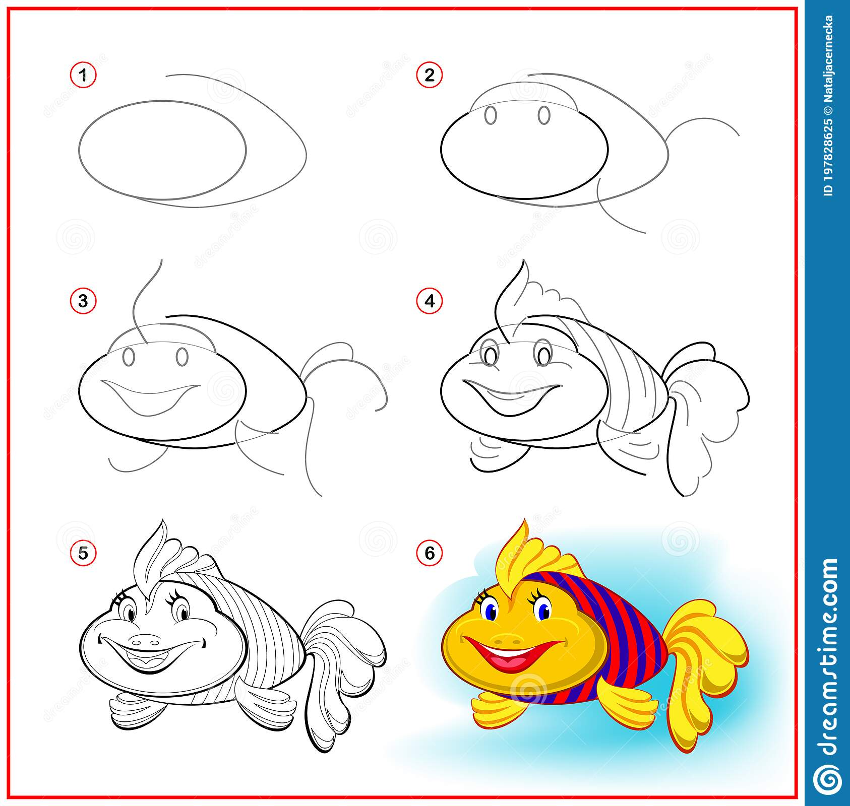 How To Draw Cute Toy Fish Educational Page For Children