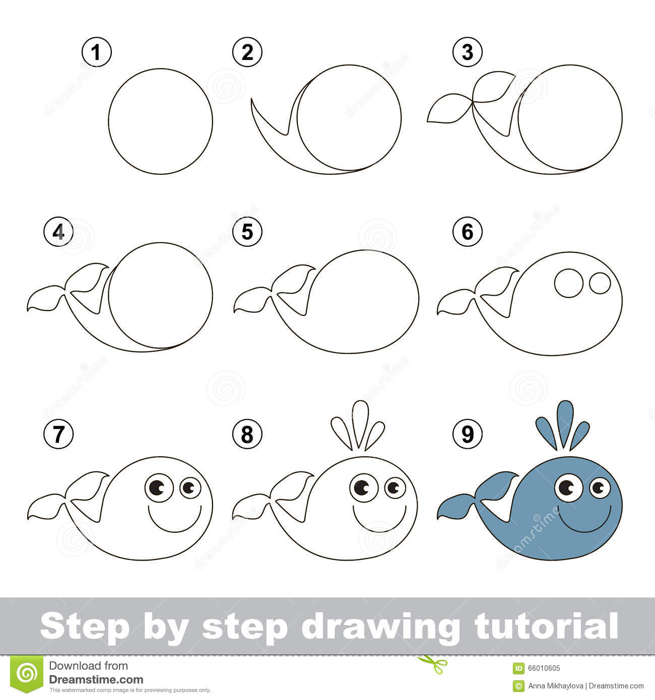 Easy Whale Drawing Steps 13 Rd Drawing Whale For Free Download On