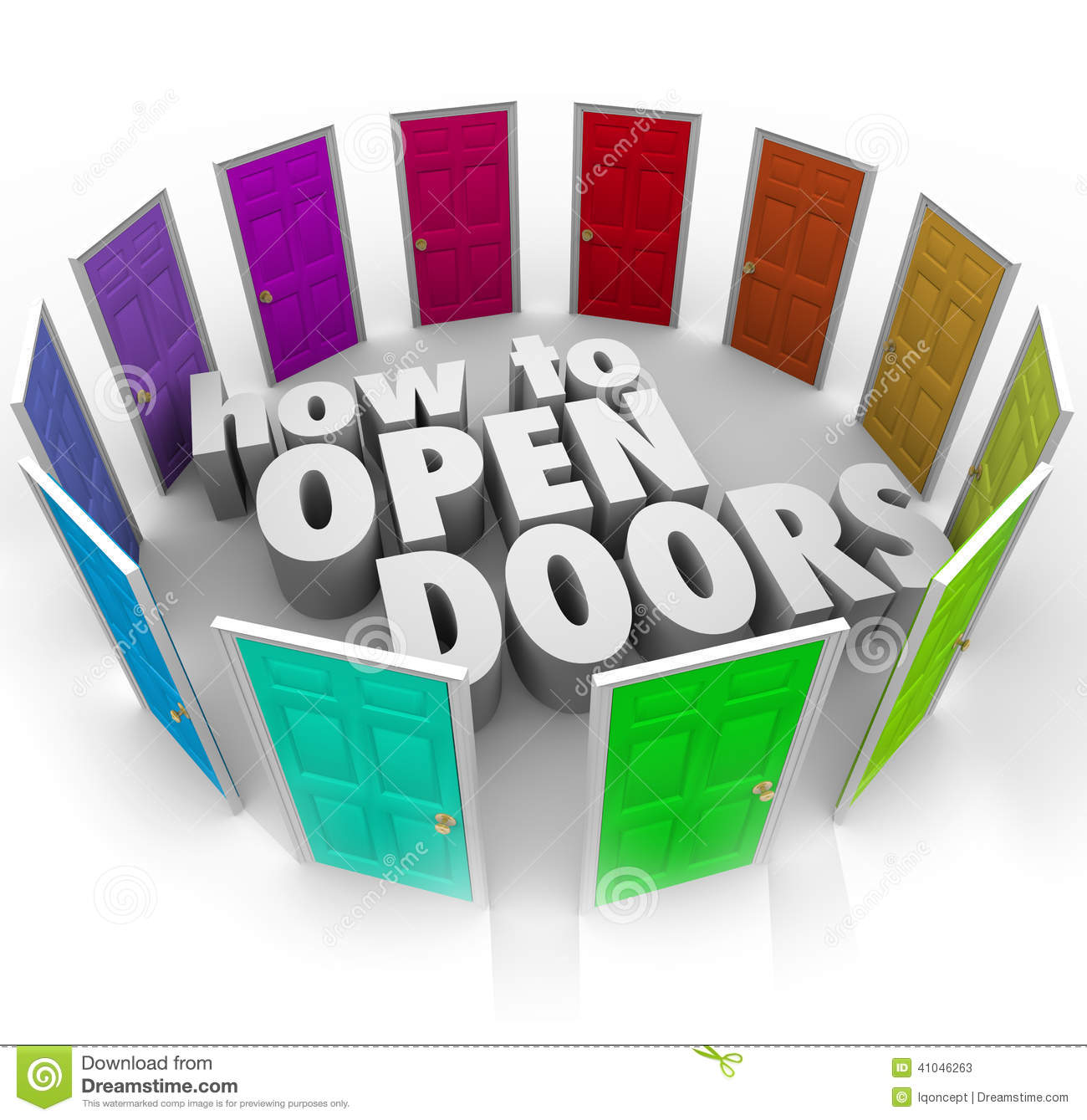 How To Open Doors Words Opportunity Entry Access New Paths Stock Illustration - Illustration of guidance. information: 41046263