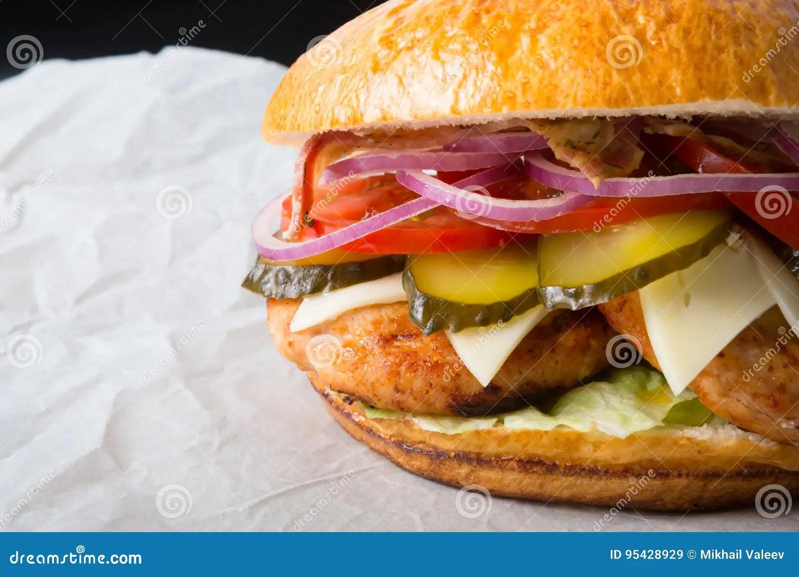huge burger on a