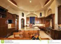 Huge New Mansion Home Kitchen Stock Photo - Image: 10015840