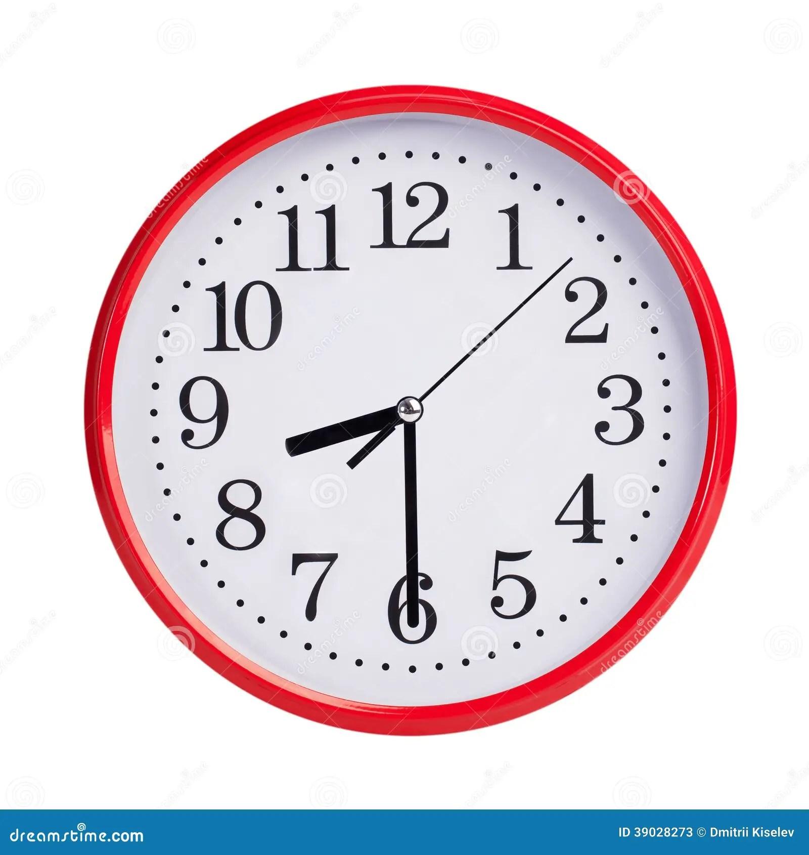 Huit Passes De Moitie Sur Un Visage D Horloge Rond Image