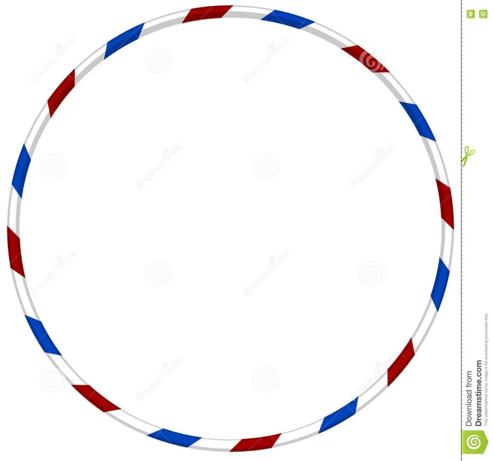 medium resolution of hula hoop with blue and red striped