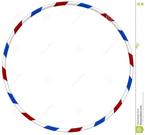 small resolution of hula hoop with blue and red striped