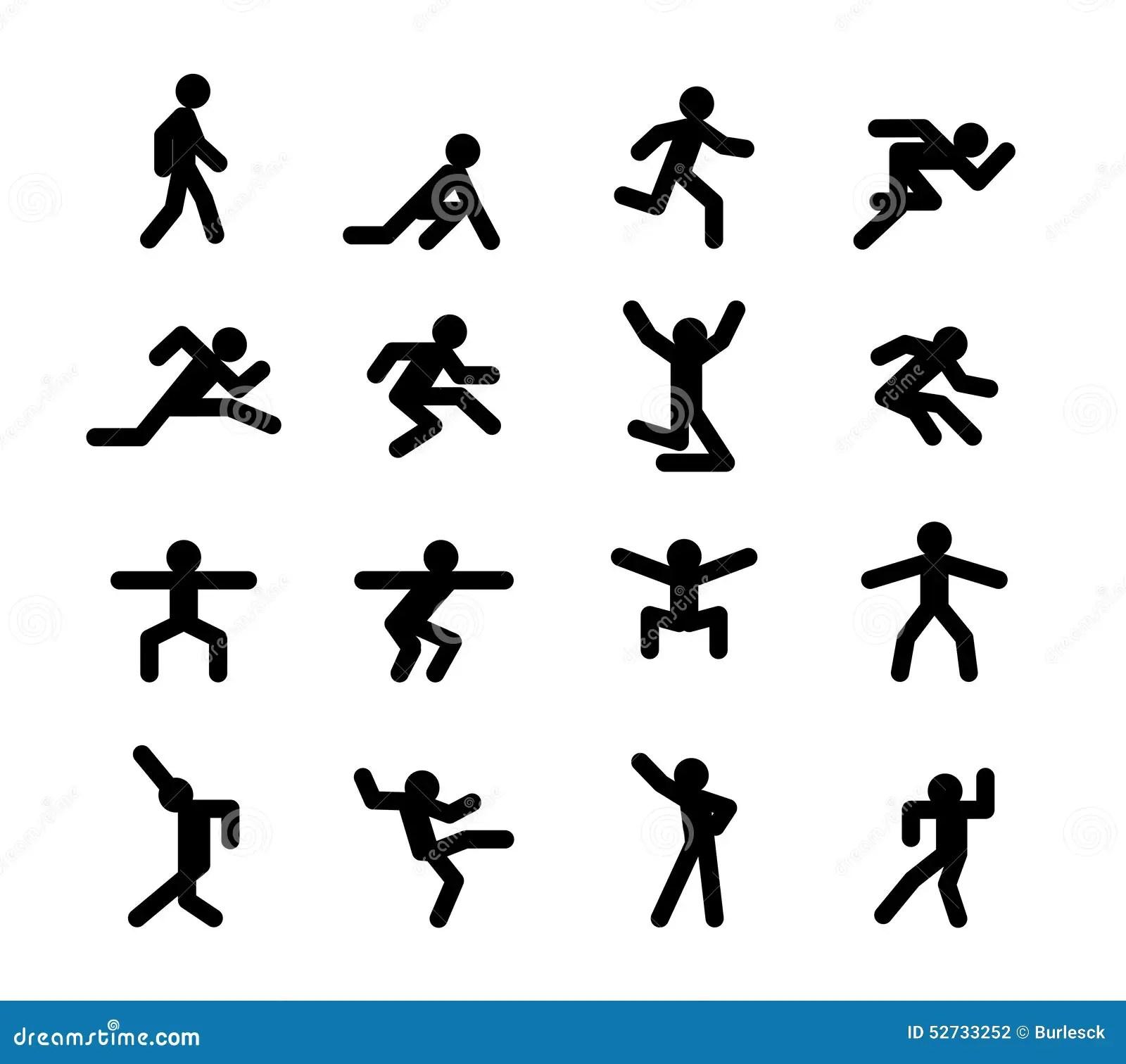 Human Action Poses Running Walking Jumping And Stock