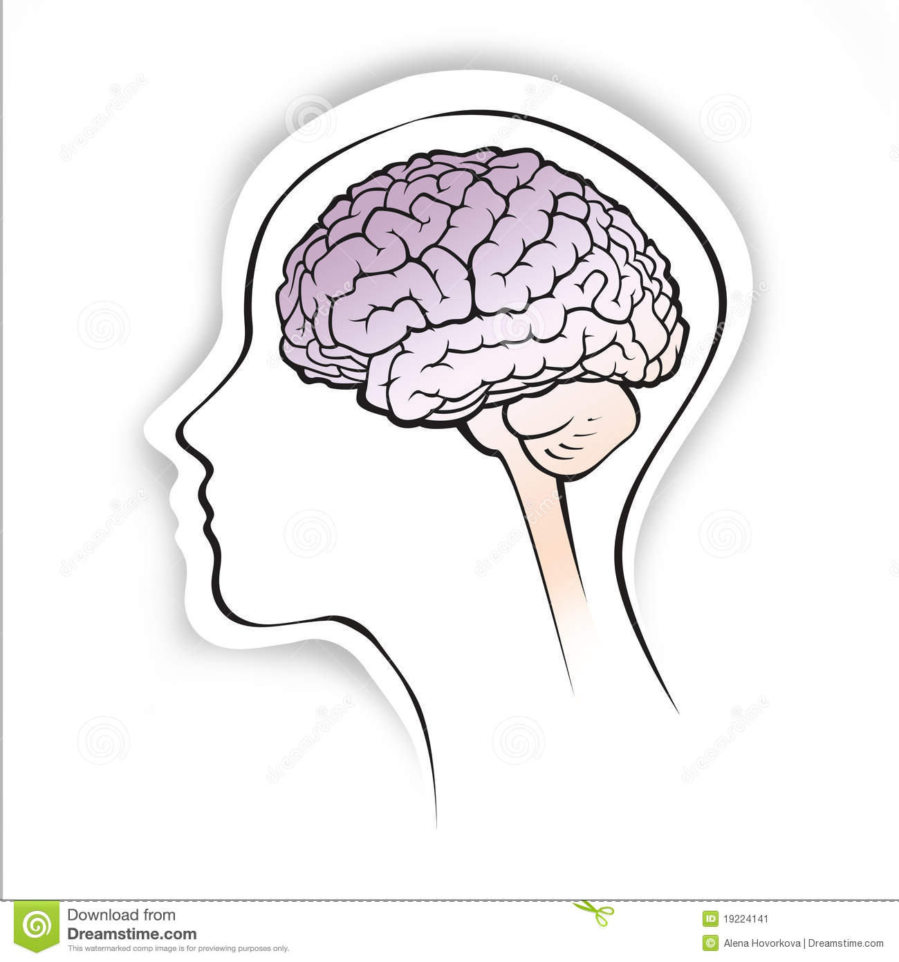 basic diagram human brain addressable smoke detector wiring within a simple head silhouette stock