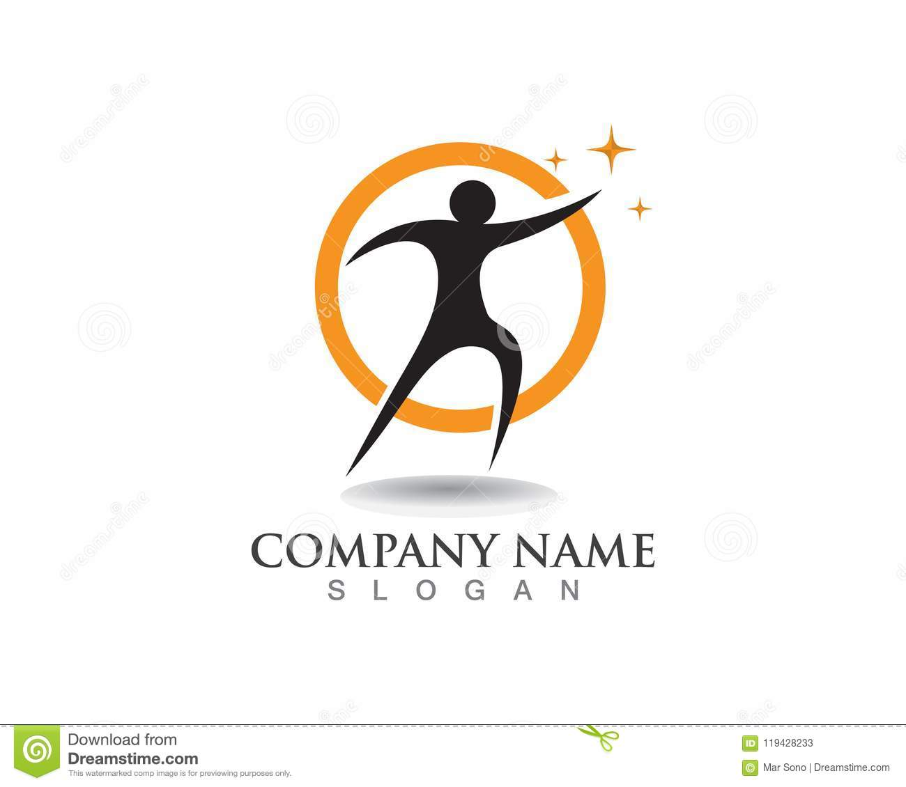 Human Character Logo Sign,Health Care Logo. Nature Logo
