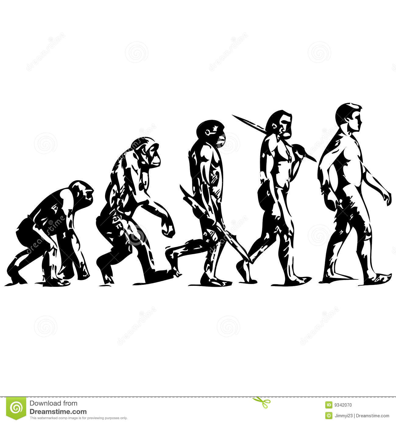 HUMAN EVOLUTION stock vector. Image of paleontology