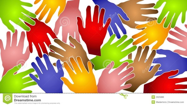 Human Hands Colorful Pattern Stock Photo Image 2925886