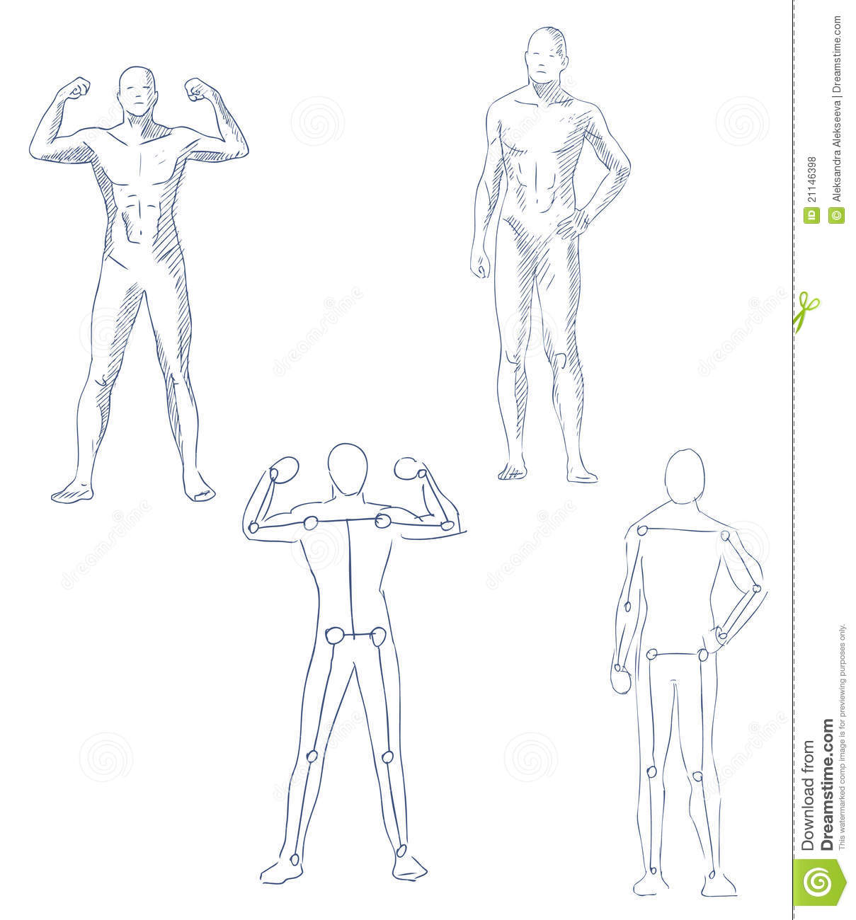 Human In Motion Artistic Sketch Royalty Free Stock Photos