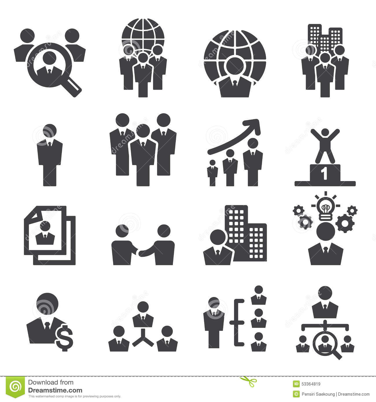 Human Resources Icon Stock Vector