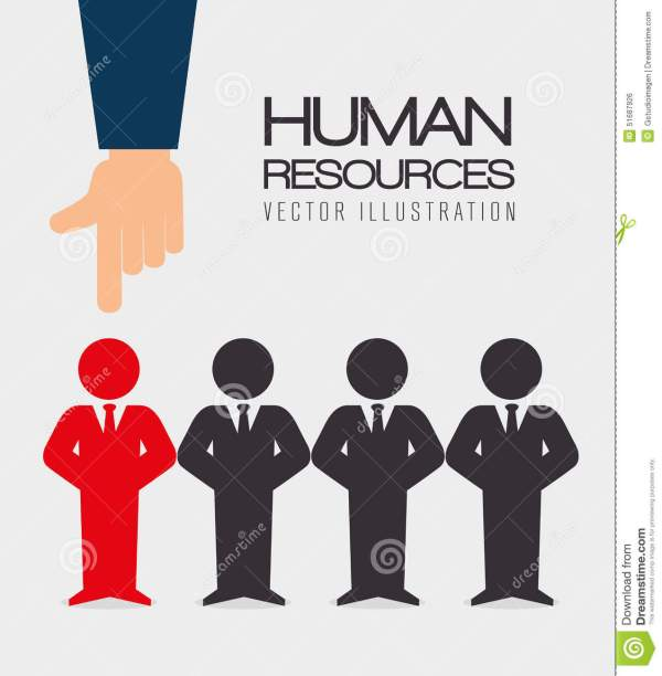 Vector Illustration Of Human Resources. Royalty-free
