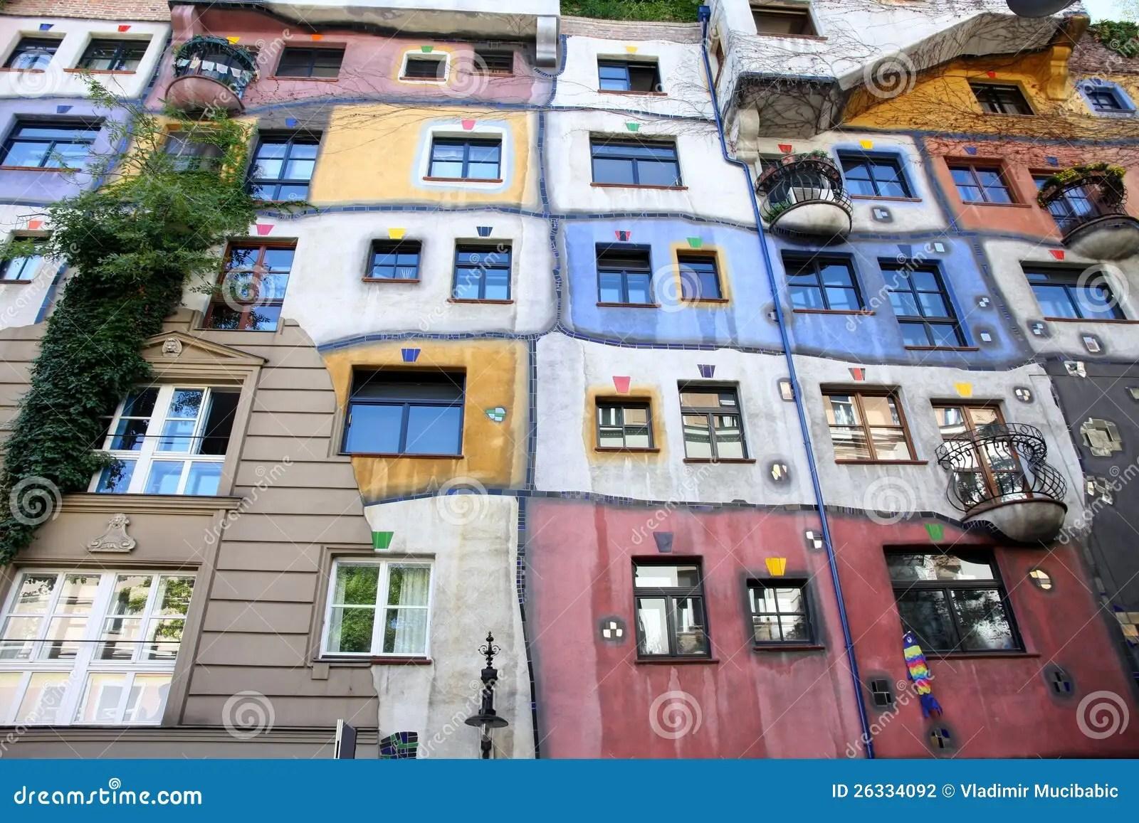 Hundertwasser House In Vienna, Austria Stock Photo - Image of balcony, europe: 26334092