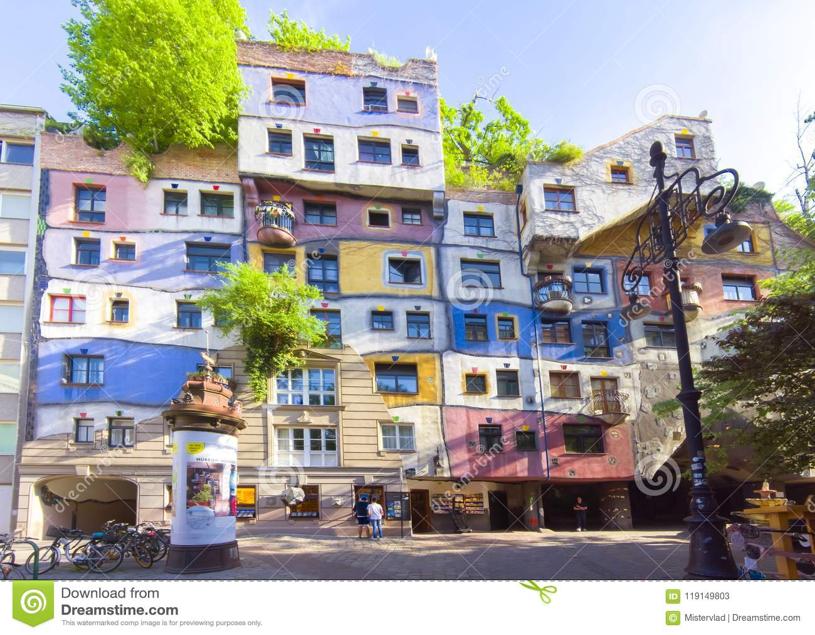 Hundertwasser House In Vienna, Austria Editorial Stock Photo - Image of green, hundertwasserhaus: 119149803