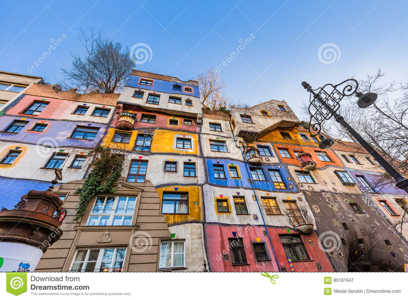 Hundertwasser House In Vienna Austria Stock Image - Image of colorful, decoration: 85181647