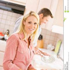 Free Standing Kitchen Sink Builder App Husband And Wife Doing Dishes Stock Photo - Image: 6882220