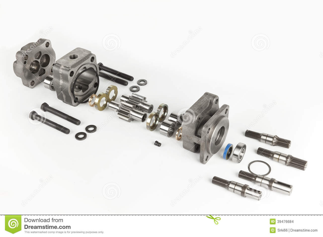 Hydraulic Engine Stock Photo Image Of Plumper Manual