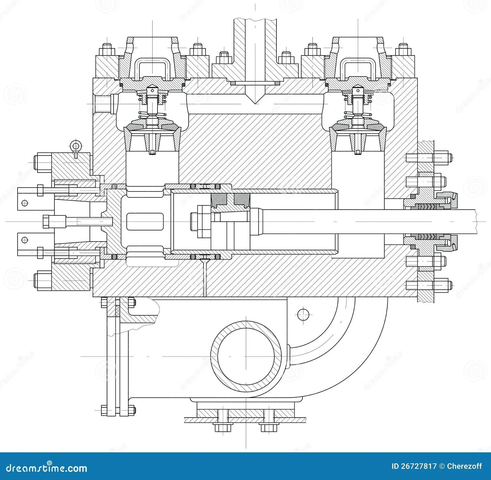 Hydraulic Piston Pump Part Stock Illustration