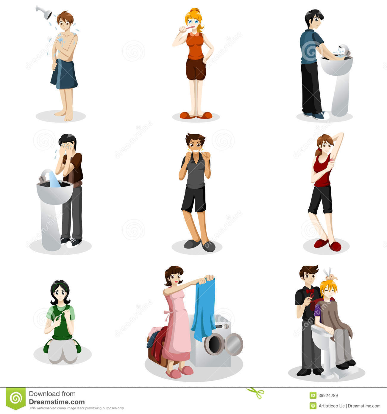 Hygienic People Stock Vector