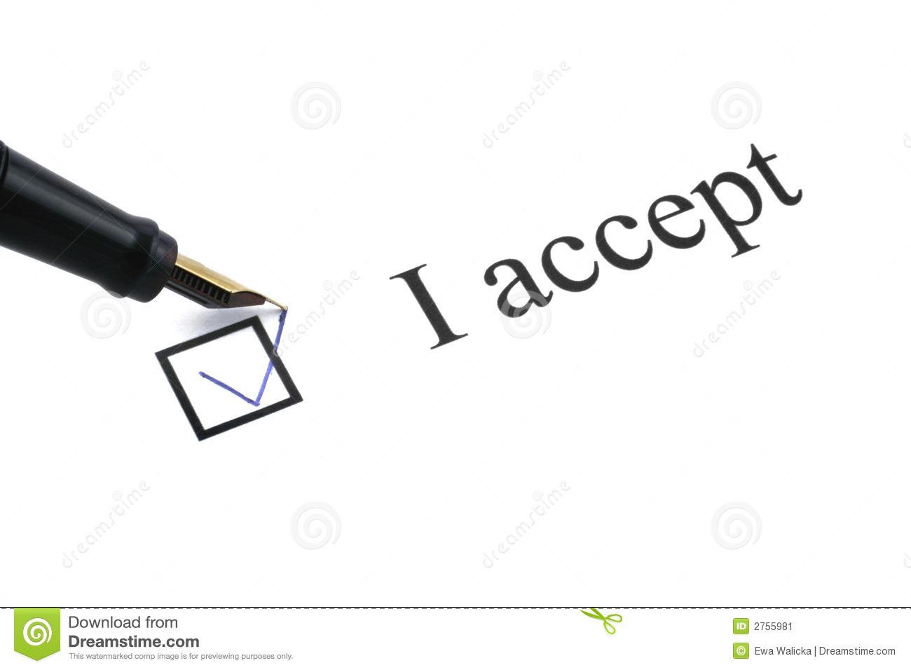 I Accept Stock Image Image Of Document Approve Internet