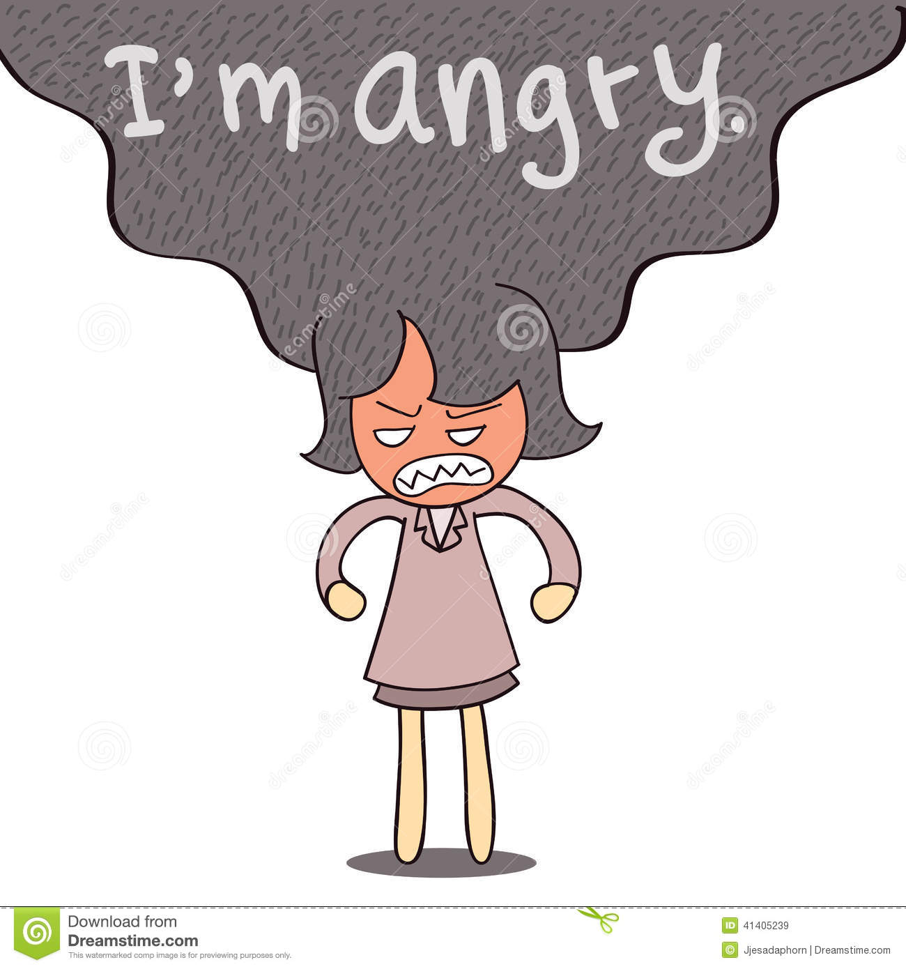 I Am Angry Stock Vector