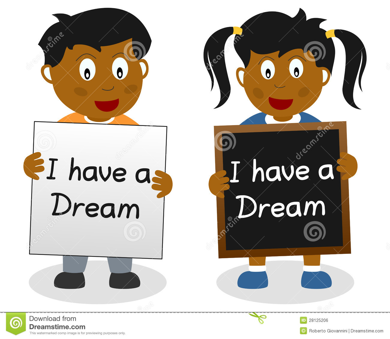 I Have A Dream Kids Stock Vector Illustration Of Abstract
