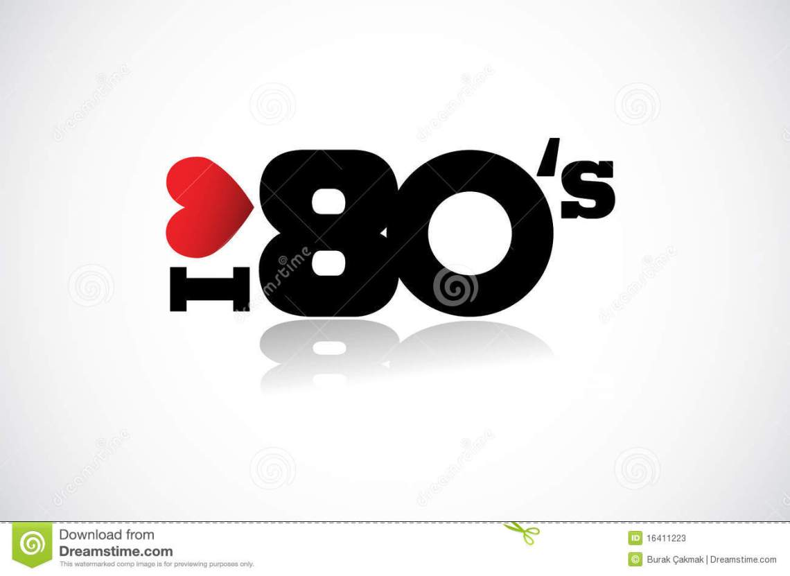 Download I love 80 s stock vector. Illustration of music ...