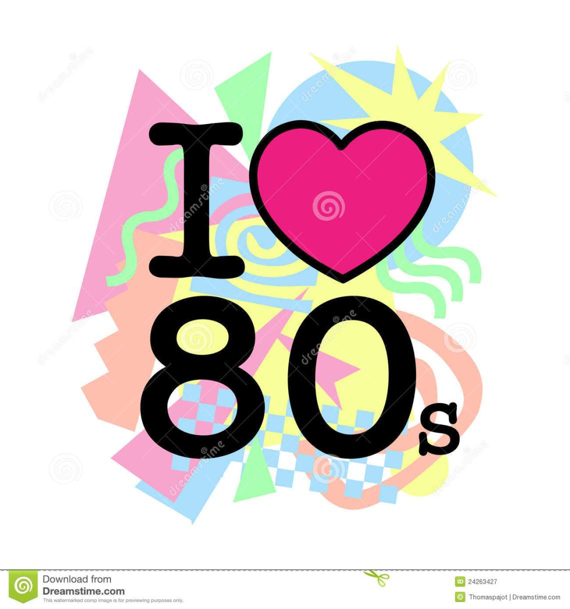 Download I love 80s old style stock vector. Illustration of concept ...