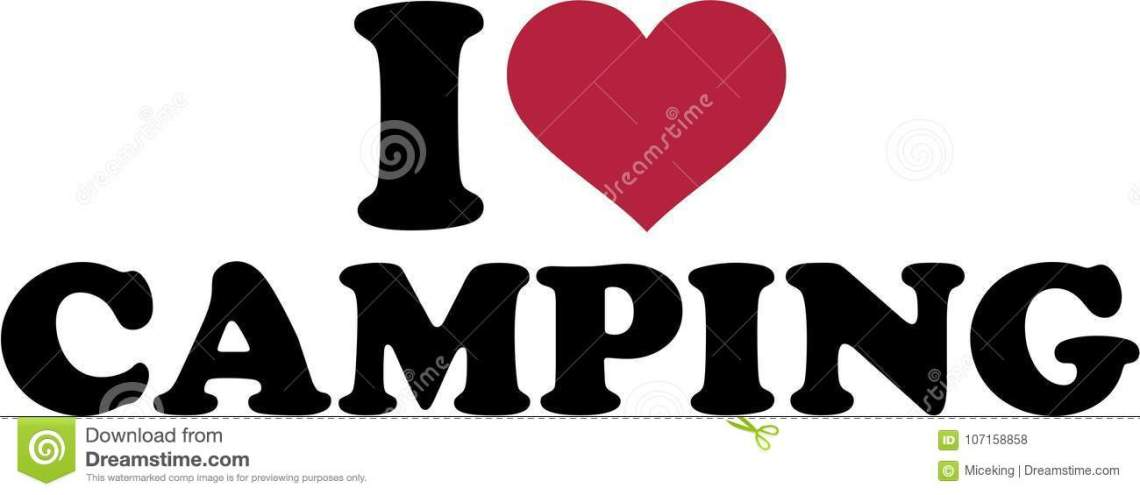 Download I love camping stock vector. Illustration of tent, camp ...