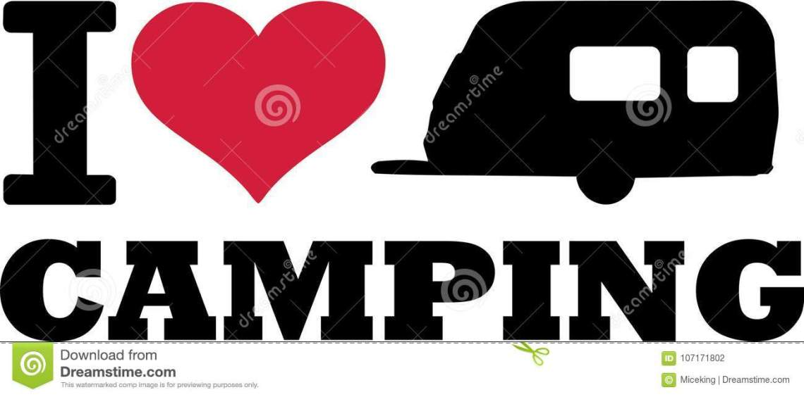 Download I Love Caravan With Camping Stock Vector - Illustration of ...