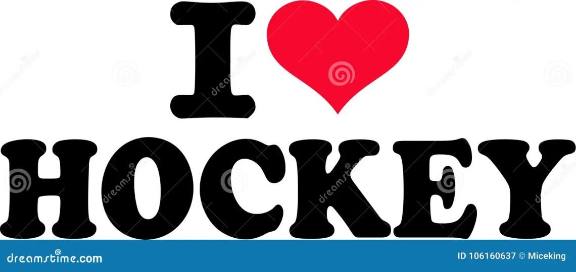 Download I love Hockey stock vector. Illustration of love, icon ...