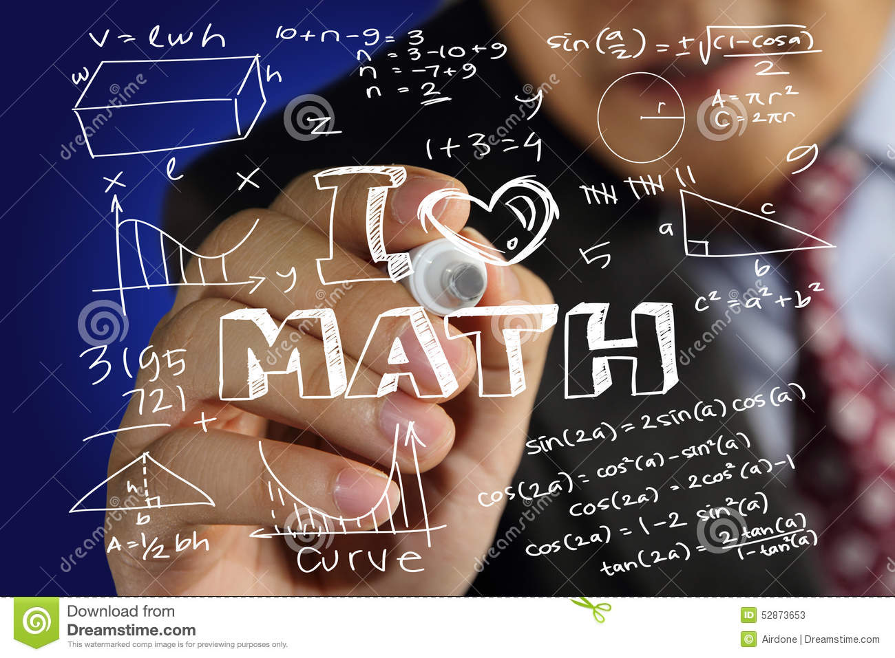 I Love Math Stock Image Image Of Calculus Graphic