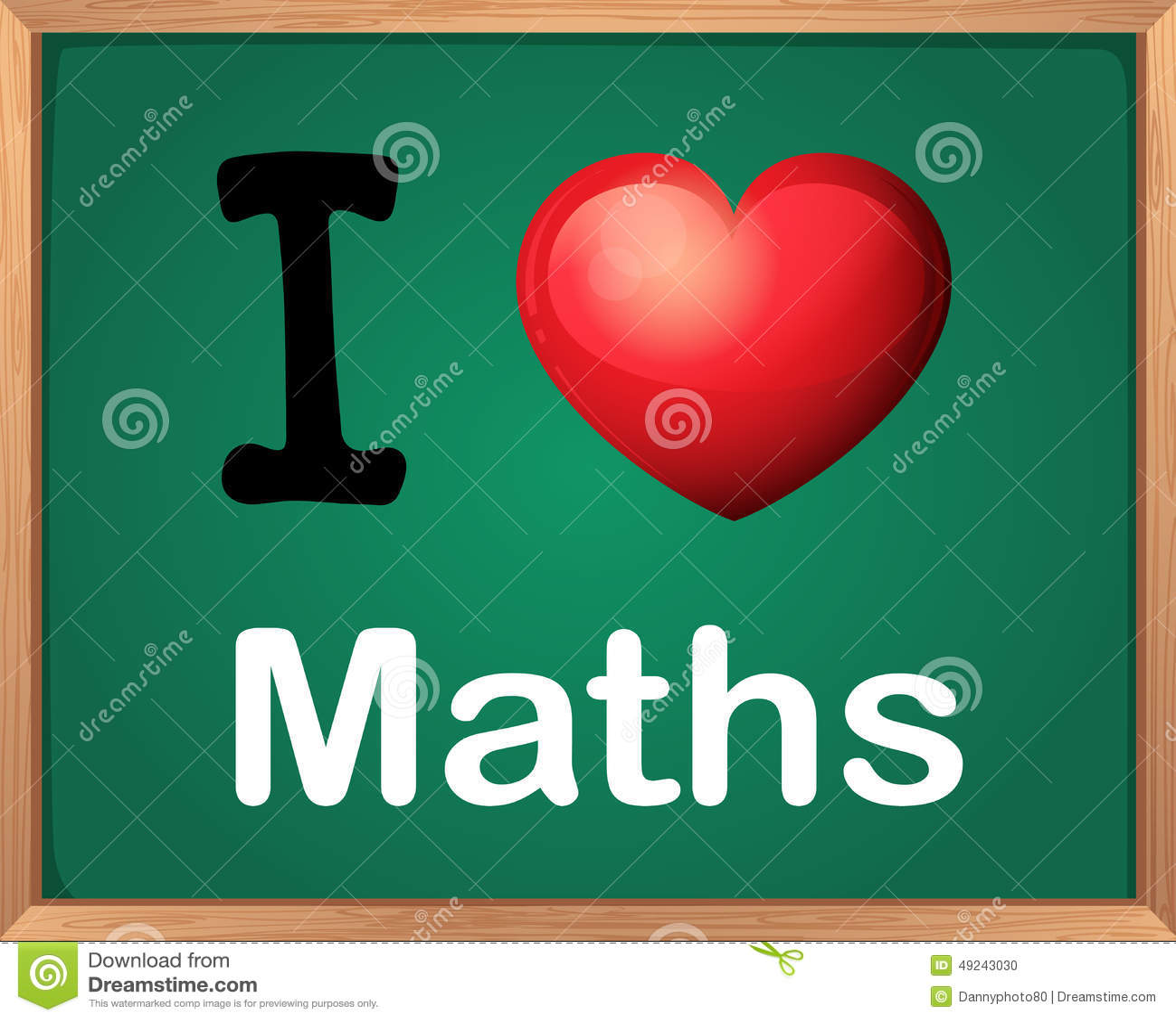 I Love Math Stock Vector Illustration Of Love Heart
