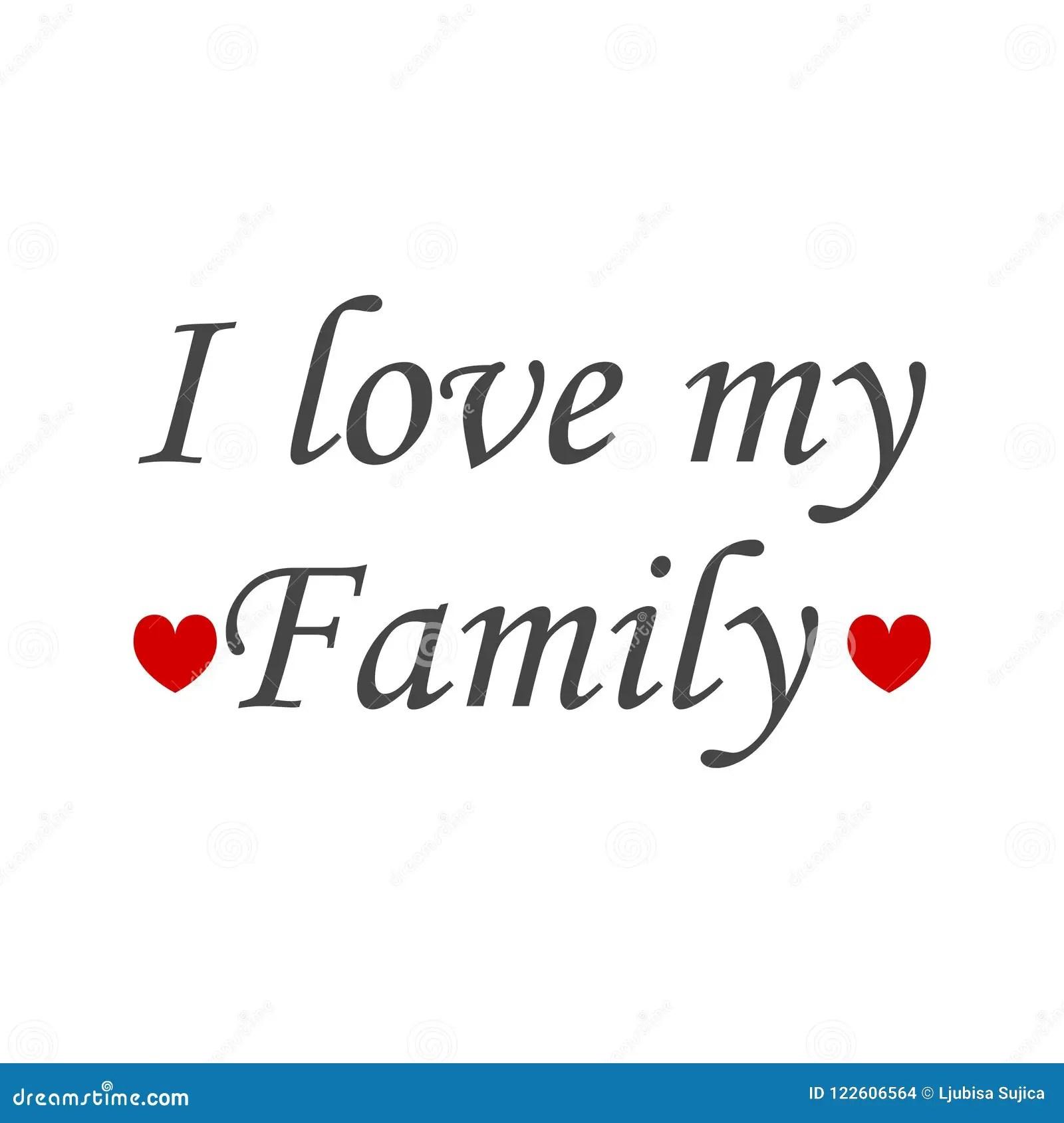 I Love My Family Icon Sign Logo Stock Illustration