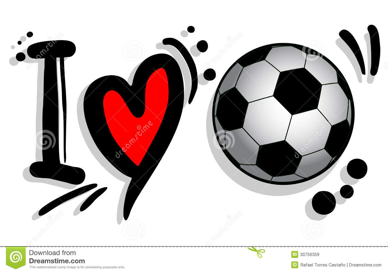 I Love Soccer Royalty Free Stock Images Image 30756359