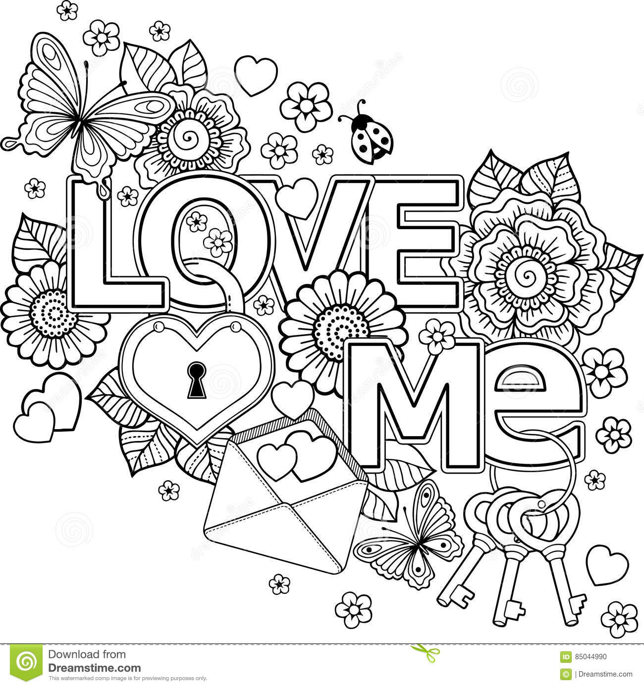 Abstract Coloring Pages With Words Pictures to Pin on