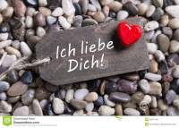 I Love You Card With German Text And A Red Heart On A ...